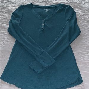 NWOT Time and True Teal Long Sleeve